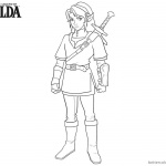 Legend of Zelda Coloring Pages Sword on the Back