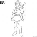 Legend of Zelda Coloring Pages Sword on the Back