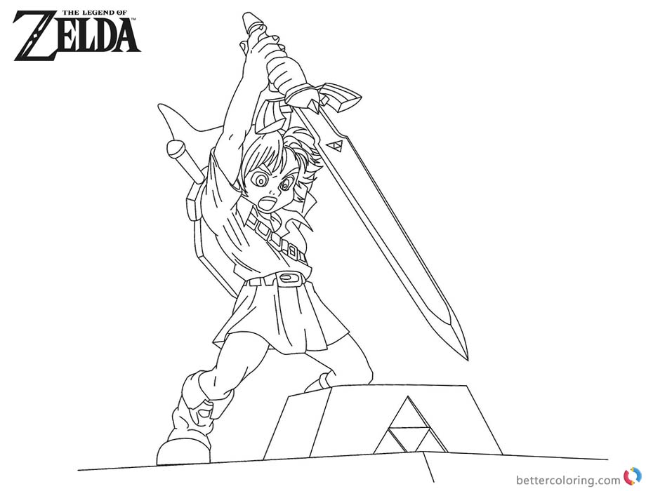 Legend of Zelda Coloring Pages Sword - Free Printable Coloring Pages