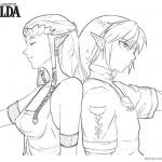 Legend of Zelda Coloring Pages Twilight Princess Line Art