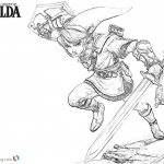 Legend of Zelda Link Coloring Pages Sketch
