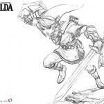 Legend of Zelda Link Coloring Pages Sketch