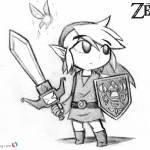 Lengend of Zelda Coloring Pages Toon Link Pencil Drawing