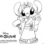 Lilo and Stitch Coloring Pages Angel in A Kimono