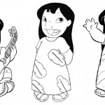 Lilo and Stitch Coloring Pages Fancy Lilo