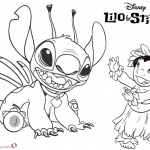 Lilo and Stitch Coloring Pages Lilo Play with Stitch