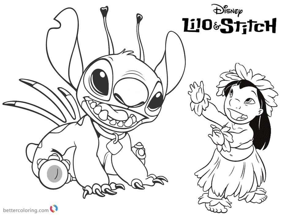 download this coloring page - Lilo And Stitch Coloring Pages