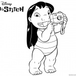 Lilo and Stitch Coloring Pages Lilo with A Camera