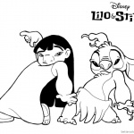 Lilo and Stitch Coloring Pages Lovely Characters by fquihuis