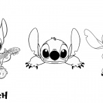 Lilo and Stitch Coloring Pages Lovely Stitch