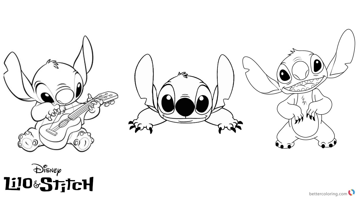 Lilo and Stitch Coloring Pages Lovely Stitch - Free Printable ...