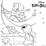 Lilo and Stitch Ohana Coloring Pages On A Boat