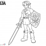 Link from Legend of Zelda Coloring Pages