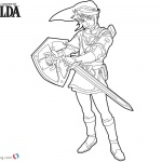 Link from Zelda Coloring Pages Line Drawing
