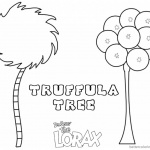 Lorax Tree Coloring Page Truffula Tree