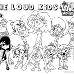 Loud House Coloring Pages Characters