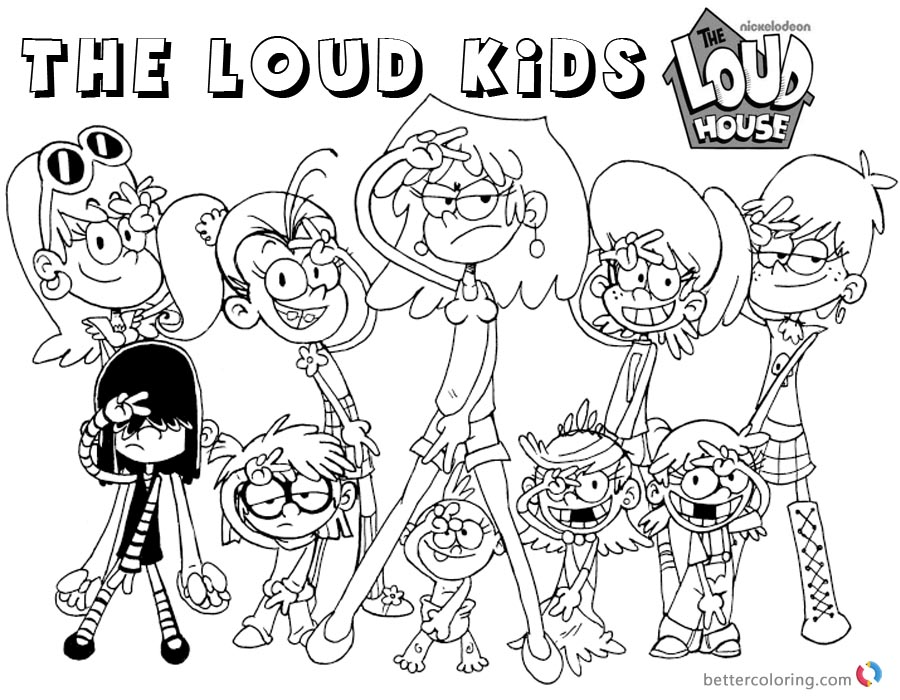Loud House Coloring Pages Characters printable