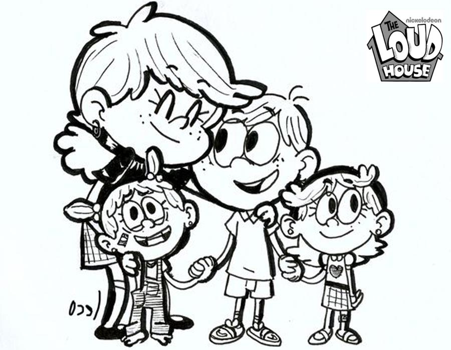 Loud House Coloring Pages Fanart by safelecoreco printable