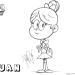 Loud House Coloring Pages Luan loud by just-def