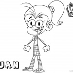 Loud House Coloring Pages how to draw Luan