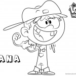 Loud House Coloring Pages How to Draw Lana