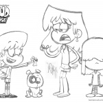 Loud House Coloring Pages Lori Lucy and Lynn