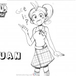 Loud House Coloring Pages lovely Luan fan art