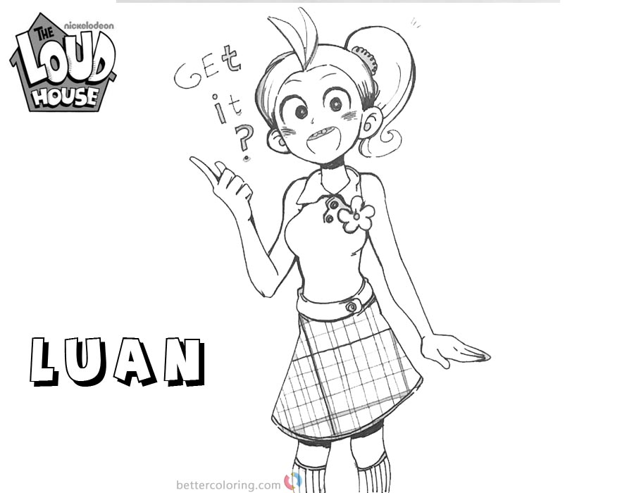 Loud house coloring pages lovely luan fan art free for Loud house printable coloring pages