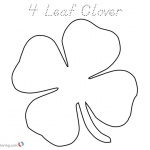 Lucky Four Leaf Clover Coloring Pages