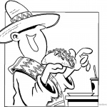 Mexican Taco Coloring Pages