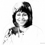 Michelle Obama Coloring Page Drawing