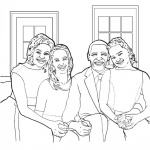 Michelle Obama Coloring Page Presidential Family