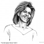 Michelle Obama Coloring Page The Well Spoken Woman