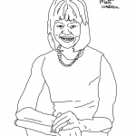 Michelle Obama Coloring Page sketch
