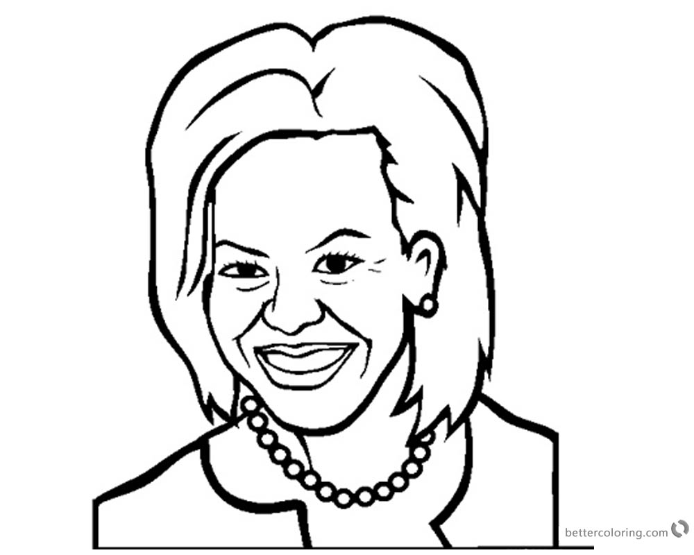 Michelle Obama Coloring Pages Marvellous Design printable