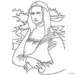 Mona Lisa Coloring Pages