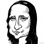 Mona Lisa Coloring Pages Clipart Drawing