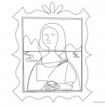 Mona Lisa Coloring Pages Clipart Picture