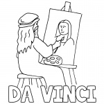Mona Lisa Coloring Pages Da Vinci Drawing