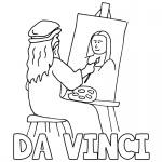 Mona Lisa Coloring Pages Da Vinci Drawing