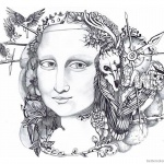 Mona Lisa Coloring Pages Doodle Art