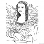 Mona Lisa Coloring Pages Fantastic Clipart