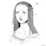 Mona Lisa Coloring Pages Ilustracao GiselaPizzatto