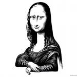 Mona Lisa Coloring Pages Jumbled by Robert Islas