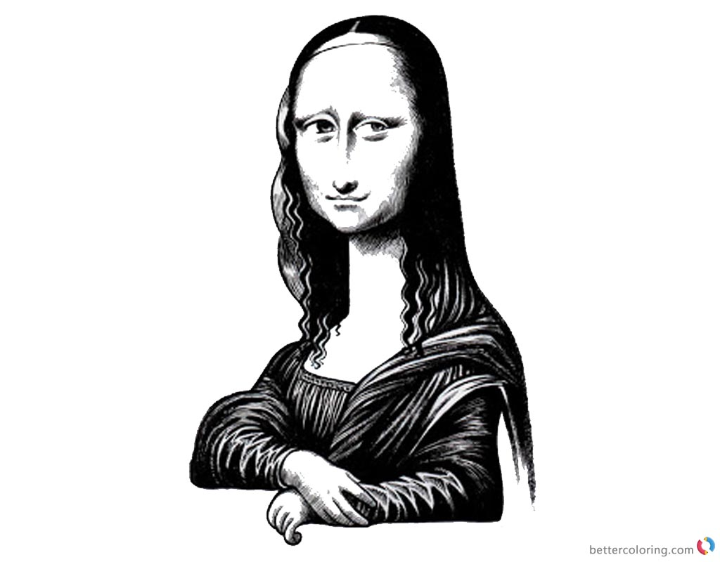 Mona Lisa Coloring Pages Jumbled By Robert Islas