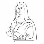 Mona Lisa Coloring Pages Line Art Clipart