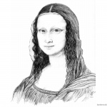 Mona Lisa Coloring Pages Lovely Mona Lisa Sketch