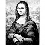 Mona Lisa Coloring Pages Pencil Clipart