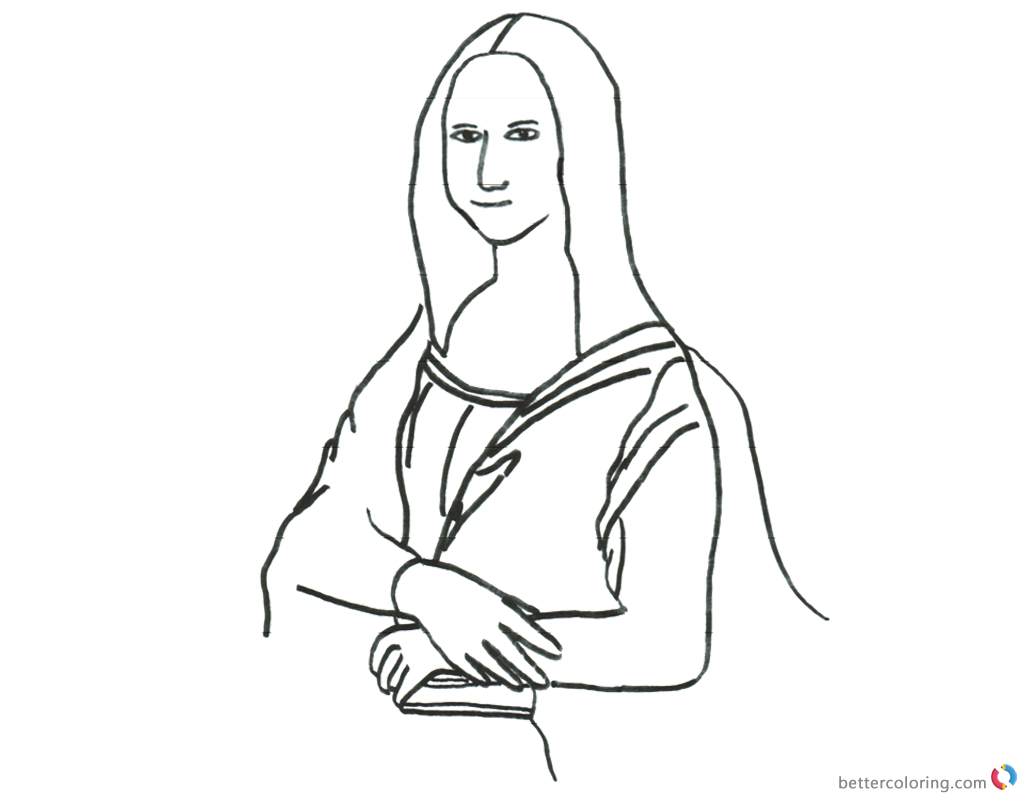 Mona Lisa Coloring Pages Pencil Clipart - Free Printable Coloring Pages
