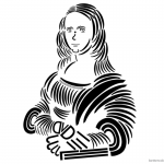 Mona Lisa Coloring Pages Trebuchet typography